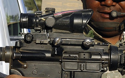 Carbine rifle with sight