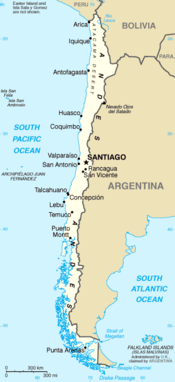 Map of Chile (general)