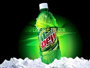 Mountain Dew on ice