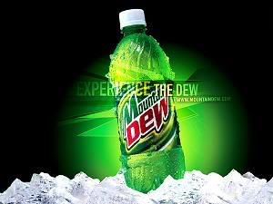 Mountain Dew on ice