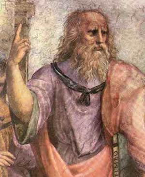 Painting of Plato