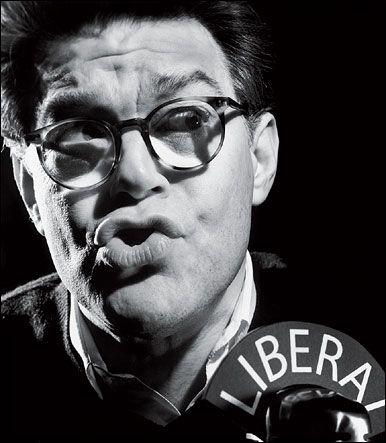 Al Franken at liberal mic