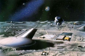 Once artist's conception of a lunar base