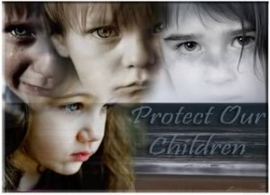 """""""Protect Our Children"""" poster"""
