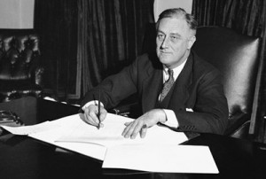 FDR - writing at his desk