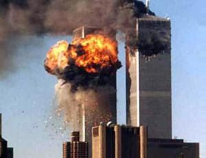 9/11 fireball & smoke at Twin Towers