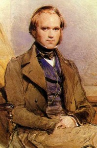Portrait of young Charles Darwin