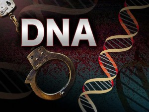 DNA strand and handcuffs