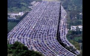 busy, multi-lane highway