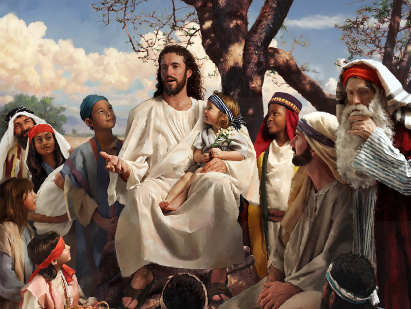 jesus teaching with child on lap What Is the Meaning of the Sermon on the Mount?