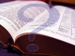 Bible and question mark