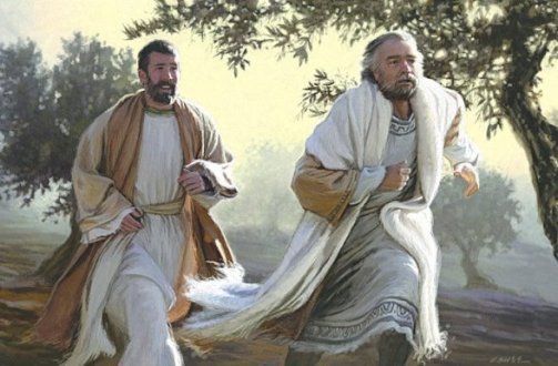 Image result for peter and john at the empty tomb