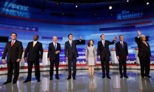 candidates at Iowa Republican debate
