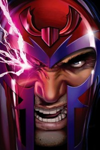angry Magneto with sparking eye