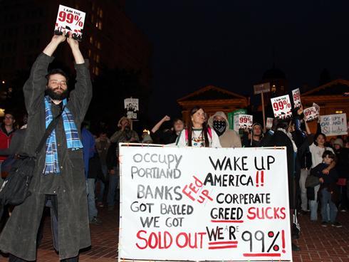 Occupy protesters in Portland