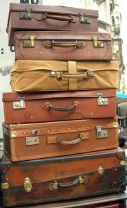 "stack of suitcases (i.e., ""baggage"")"