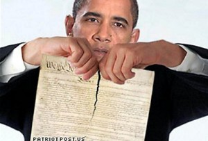 Obama shredding U.S. Constitution