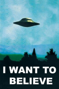 "X-Files ""I Want to Believe"" poster"