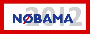 NObama 2012 sign with red border