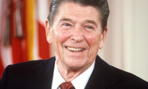 Reagan smiling