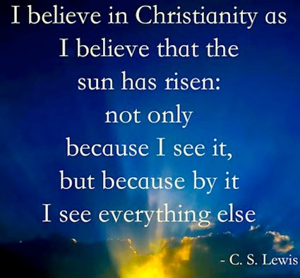 Famous C.S. Lewis quote about why he believes in Christianity