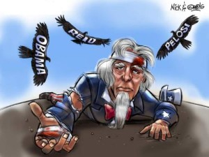 beleaguered Uncle Sam