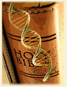 Bible and DNA helix
