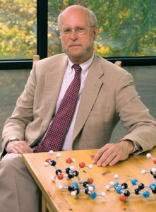 Henry F Shaefer with model molecules
