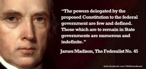 James Madison quote from Federalist #45