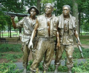 Vietnam War Memorial - Three Servicemen statue