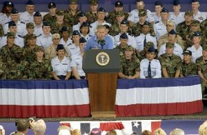 GWBush speaking at Wright-Patterson Air Force Base on 7/4/2003
