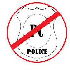anti-PC police badge