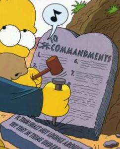 Homer Simpson commandments