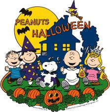 Peanuts characters Halloween pic