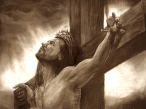 Cool drawing of Jesus on the cross