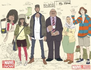 New Ms Marvel w/ family and a friend