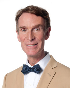 Bill Nye in tan coat
