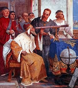 Galileo demonstrates his new telescope