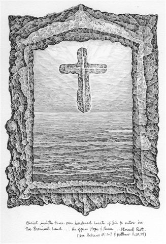 Cross II drawing - Tom Graffagnino