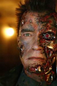 Arnold as embattled Terminator