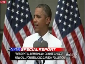 Obama talks climate change