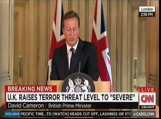 David Cameron raises threat level re ISIS