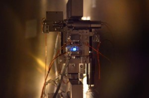 X-ray laser experiment