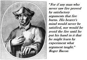 image and quote of Roger Bacon