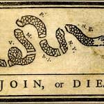 """""""Join, or Die"""" woodcut"""