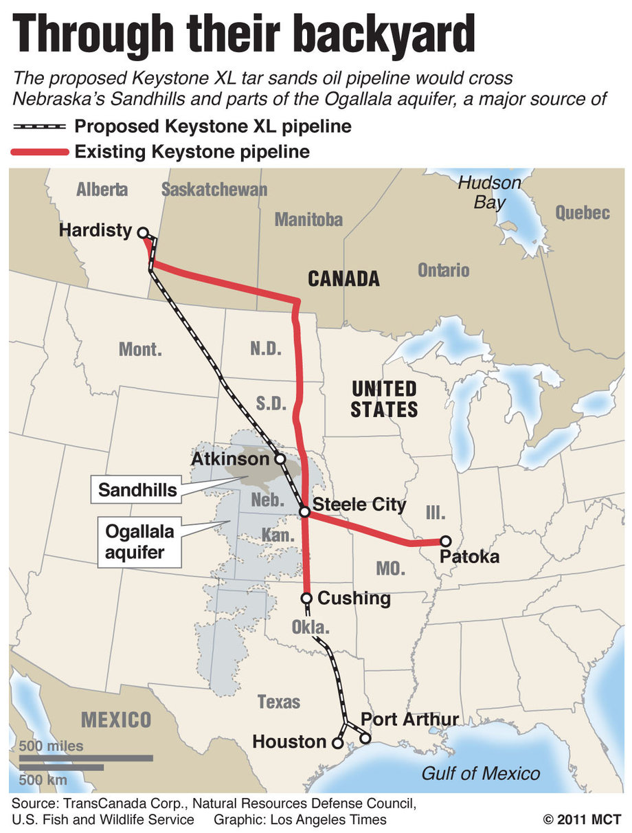 Keystone Xl Pipeline Expansion on Keystone Pipeline Route Map
