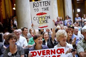 protestors against Common Core