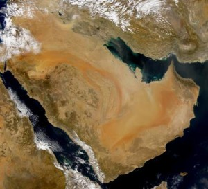 Persian Gulf region (NASA/ SeaWIFS)