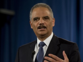 Holder speaking about Ferguson report