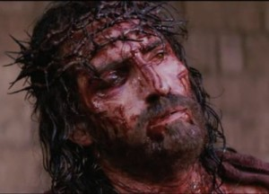 Jesus beaten and crowned with thorns